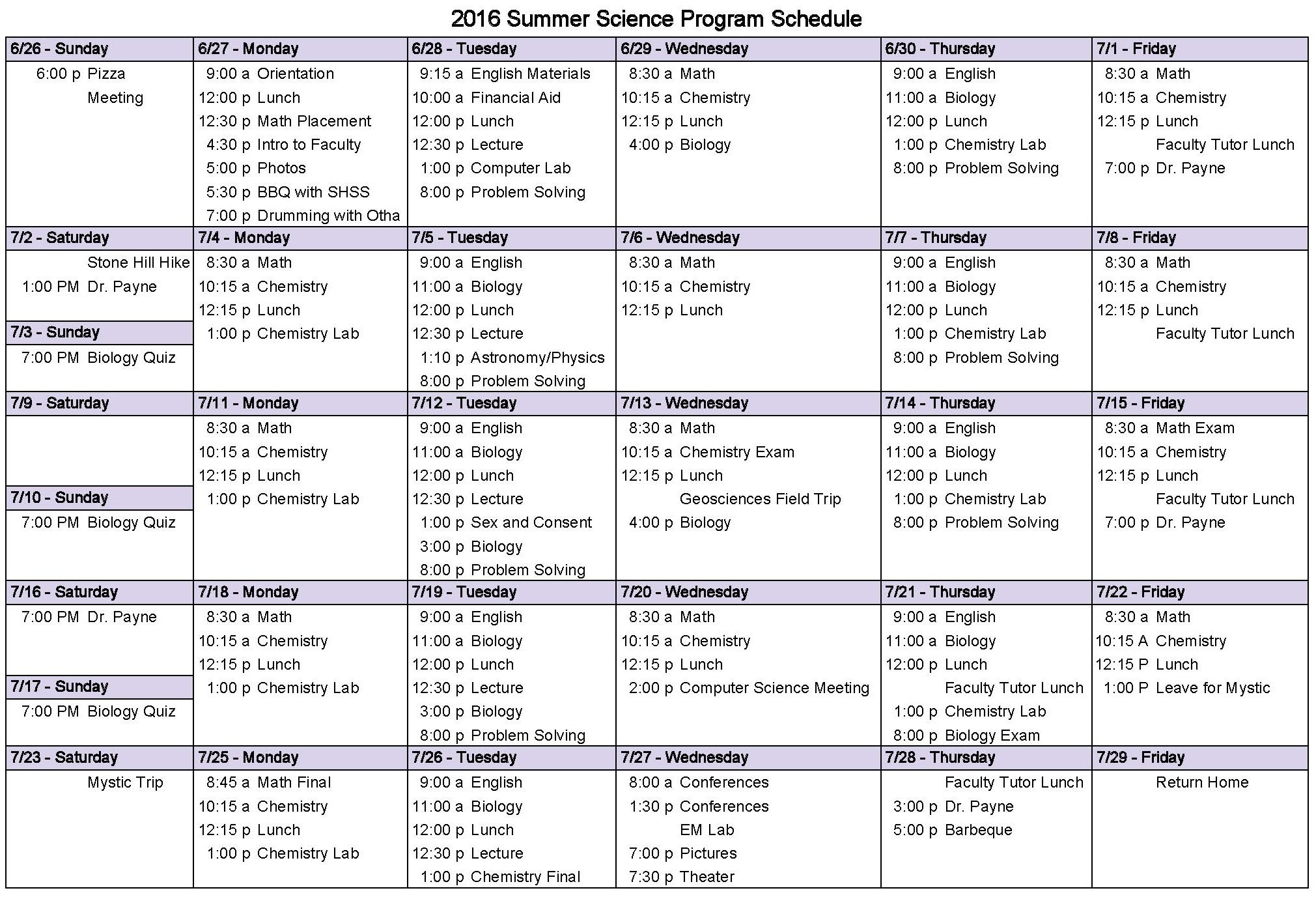 SSP 2016 Calendar - Calendar